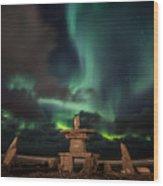Magical Aurora Wood Print