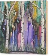 Magical Birch Wood Print