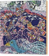 Magical Birds Wood Print by Carol  Law Conklin