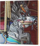 Magical Carousel Wood Print
