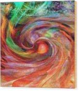 Magical Energy Wood Print by Linda Sannuti