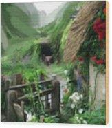 Magical English Mountain Cottage 2 Wood Print