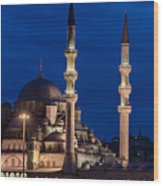 Magical Istanbul Wood Print