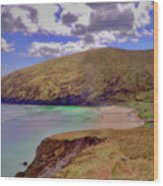 Magical Keem Beach Crowned By Clouds From Heaven Wood Print