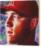 Magical Mike Trout Wood Print