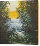 Magical Moonlight Wood Print