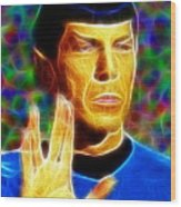 Magical Mr. Spock Wood Print