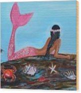 Magical Mystic Mermaid Wood Print