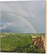 Magical Rainbow Panorama Wood Print