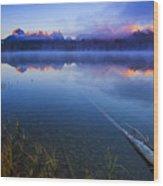Magical Sunrise Along Sawtooth Mountain Range Stanley Idaho Wood Print
