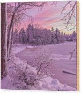 Magical Sunset After Snow Storm 1 Wood Print