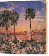 Magical Sunset Wood Print