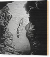 Magical Underwater Cave Wood Print