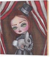 Magician Girl Wood Print