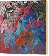Magma Wood Print