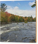 Magnetawan River In Fall Wood Print