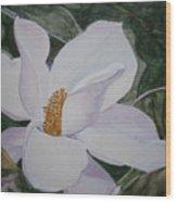 Magnificent Magnolia Wood Print
