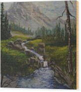 Magnificent Rockies Wood Print
