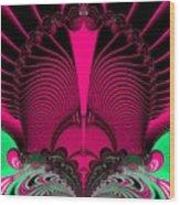 Magnificent Sunrise Reflections Fractal 119 Wood Print