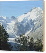 Magnificent Swiss Glacier Wood Print