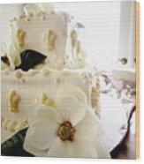 Magnolia Cake Three Wood Print