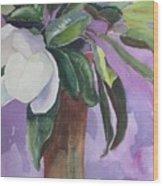 Magnolia Wood Print by Elizabeth Carr