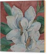 Magnolia Five Wood Print