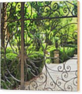 Magnolia Gate Wood Print