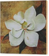 Magnolia Grandiflora Wood Print