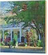 Magnolia Inn Wood Print