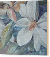 Magnolia Magic Wood Print
