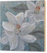 Magnolia Melody Wood Print