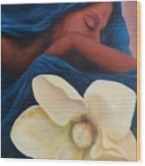 Magnolia Wood Print by Patricia Ann Dees