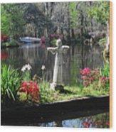 Magnolia Place Pond Wood Print