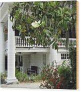 Magnolia Plantation Wood Print