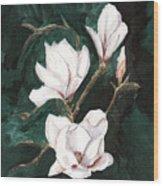 Magnolia Soulangeana Wood Print
