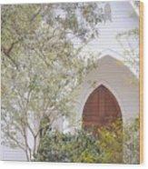 Magnolia Springs Church Wood Print