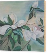 Magnolia Summer Wood Print