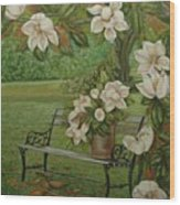 Magnolia Tree Wood Print