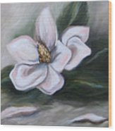 Magnolia Two - 2007 Wood Print