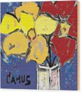 Magnolia Y Colores Wood Print by Carlos Camus