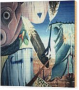 Magpie Mocks Kachinas Clowns And Fools Wood Print