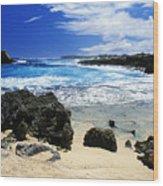 Mahaulepu Koloa Beach Wood Print