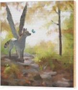 Mahli Wood Print by Brandy Woods