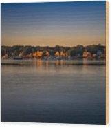 Mahone Bay From Oakland Wood Print