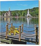 Mahone Bay Nova Scotia Wood Print