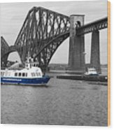Maid Of The Forth In Blue. Wood Print