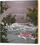 Maid Of The Mist Canadian Boat Wood Print