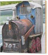 Mail Truck Wood Print