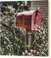 Mailbox Deux Wood Print